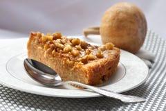 Morceau de tarte de potiron avec des noix Image stock