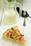 Morceau de tarte de rhubarbe photographie stock libre de droits