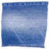 Morceau de tissu bleu-clair de jeans Images stock