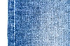 Morceau de tissu bleu-clair de jeans Photos libres de droits