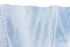 Morceau de tissu bleu-clair de jeans Photographie stock