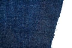 Morceau de tissu bleu-foncé de jeans Photo stock