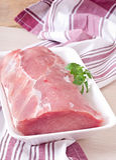 Morceau de viande de porc crue Image stock
