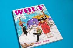 Morceau japonais de Manga One - bande dessinée éditée en magazine hebdomadaire de saut de Shonen photographie stock libre de droits