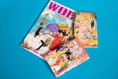 Morceau japonais de Manga One - bande dessinée éditée en magazine hebdomadaire de saut de Shonen photos stock