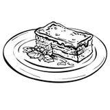 Morceau savoureux de gâteau de chocolat Images libres de droits