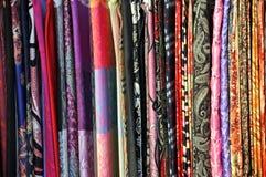 Morceaux colorés de tissu Images libres de droits
