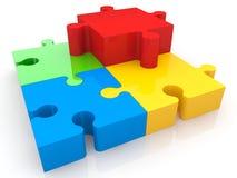 Morceaux colorés multi de puzzle illustration stock