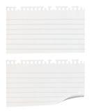 Morceaux déchirés de papier de note Photographie stock