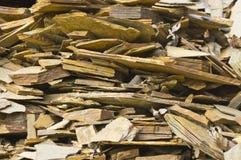 Morceaux d'ardoise dans une pile Photo stock