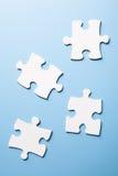4 morceaux d'un puzzle Photos libres de droits