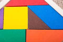 Morceaux d'un puzzle carré de tangram Image libre de droits