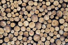 Morceaux de bois après coupure image libre de droits