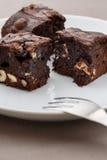 Morceaux de 'brownie' images libres de droits