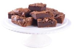 Morceaux de 'brownie' faits main Image stock