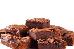 Morceaux de 'brownie' faits main Images stock