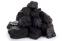 Morceaux de charbon Images stock
