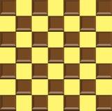 Morceaux de chocolat de chocolat dans décalés Images stock