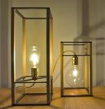 Morceaux de conception, belles lampes modernes de Tableau Photos libres de droits