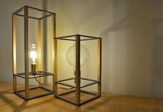 Morceaux de conception, belles lampes modernes de Tableau Image stock