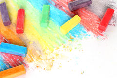 Morceaux de couleur de craie Images stock