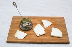Morceaux de fromage de chèvre Image stock