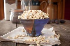 Morceaux de noix de cajou Images libres de droits