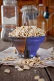 Morceaux de noix de cajou Photographie stock