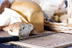 Morceaux de pain Photos stock