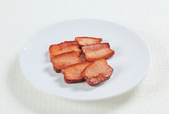 Morceaux de porc de sel Photos libres de droits