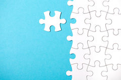 Morceaux de puzzle Photo stock