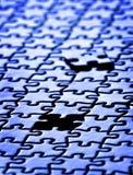 Morceaux de puzzle accomplis Image libre de droits