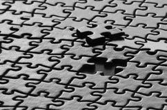 Morceaux de puzzle accomplis Images libres de droits