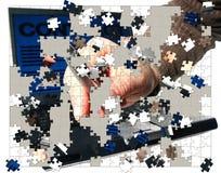 Morceaux de puzzle d'affaires Photos libres de droits