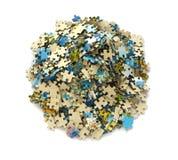 Morceaux de puzzle d'isolement sur le wite Images stock