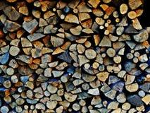 Morceaux de rondin de cheminée Images libres de droits