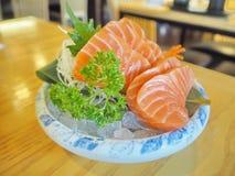 Morceaux de saumons frais Image libre de droits