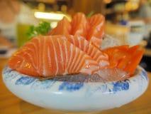Morceaux de saumons frais Image stock