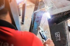 Morceaux de soudure de métal Photos libres de droits