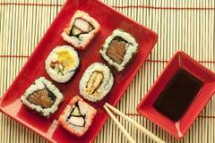 Morceaux de sushi Photographie stock libre de droits
