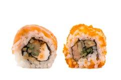 Morceaux de sushi d'isolement Photos libres de droits