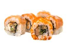 Morceaux de sushi d'isolement Image stock