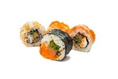 Morceaux de sushi d'isolement Images stock