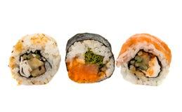Morceaux de sushi d'isolement Image libre de droits