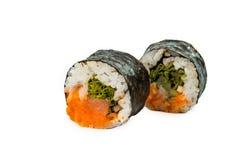 Morceaux de sushi d'isolement Photographie stock