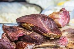 Morceaux de viande de porc crue Photo stock