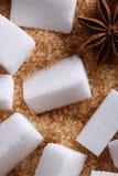 Morceaux du sucre blanc Image libre de droits