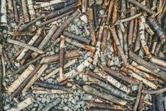 Morceaux en bois Images stock