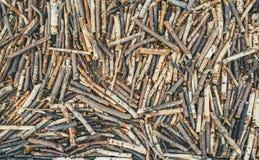 Morceaux en bois Photo stock