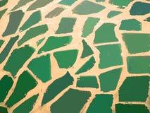 Morceaux en céramique concrets et verts beiges image libre de droits